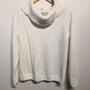 Northern Reflections  White cowl neck sweater